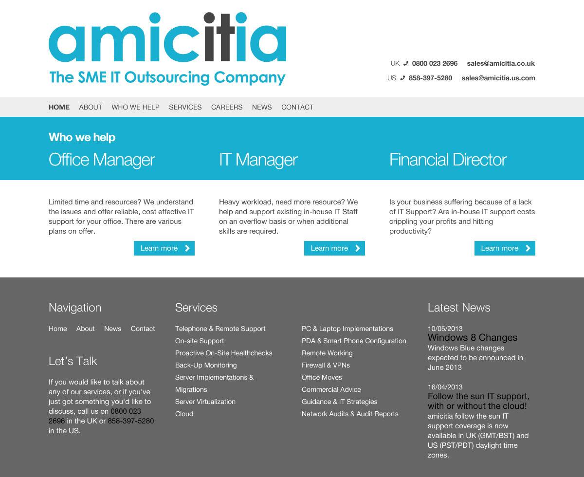 amicitia.com homepage